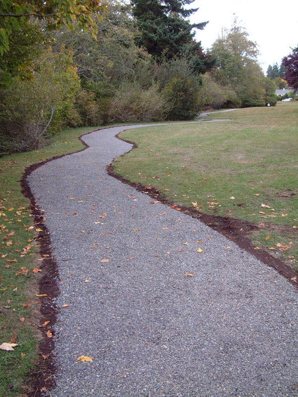 Gravel surfaces stabilized for vehicle and pedestrian