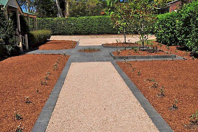 CORE Path allows for flexibility in all your landscaping designs, helping to protect garden areas.