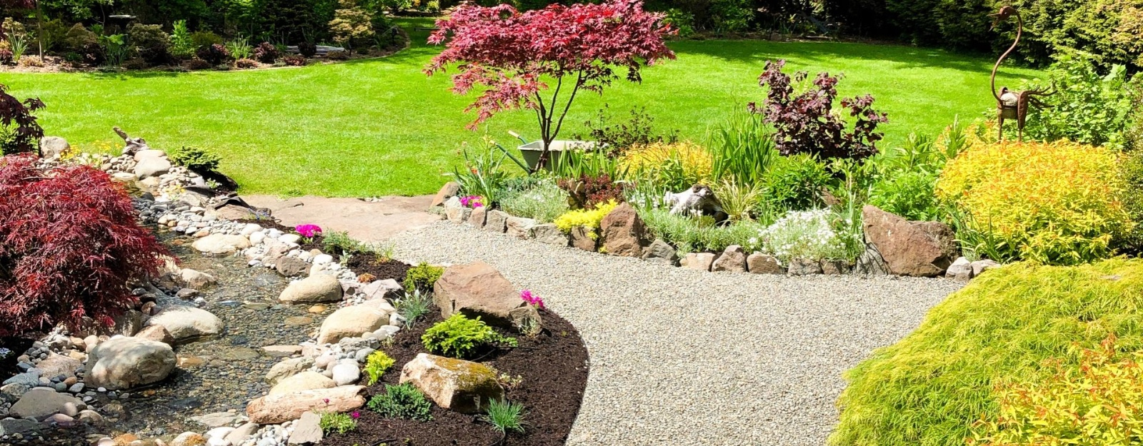 Pathways created with stabilized gravel foundations – CORE Landscape