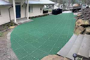 CORE Grass system installation on a residential driveway