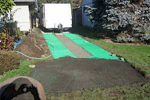 CORE Grass being installed for RV Parking