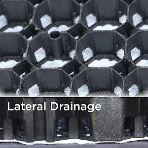 CORE Gravel 60-40R Cells: 60mm x 40mm deep Features built-in lateral drainage