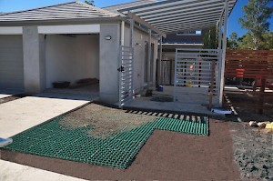 CORE grass driveway under construction using 60-40 grid