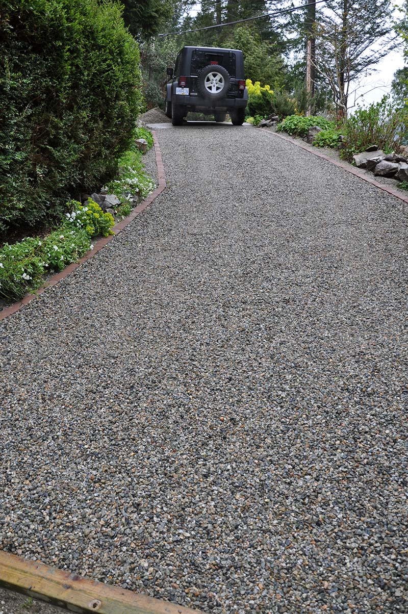 Sloped driveway installation core systems for Sloped driveway options