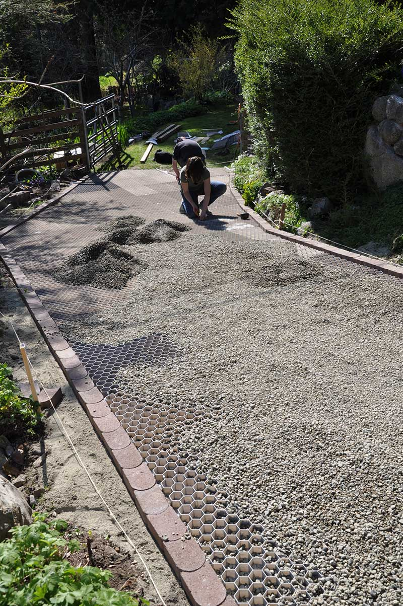 Awesome The Driveway Is Levelled And Prepared For Resurfacing · The CORE Gravel  Foundation Panels Easily Clip Together And Can Be Shaped To Any Landscaping  Plan ...