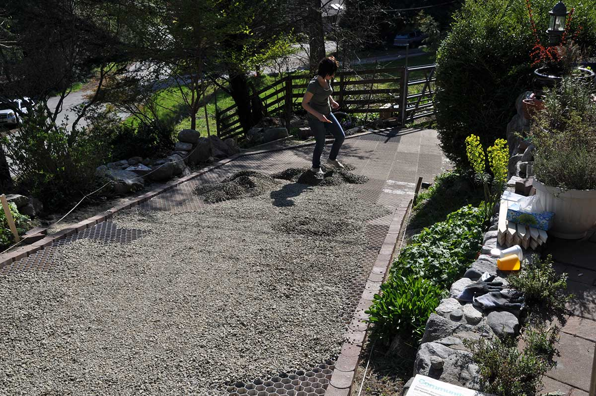 Core landscape stabilized gravel foundation installations for Sloped driveway options