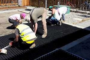 The CORE Gravel 60-40 is installed by volunteers