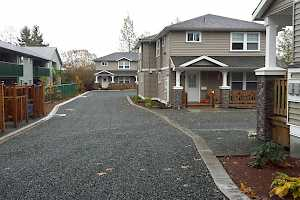 Completed driveway and parking areas...Welcome Home Habitat for Humanity recipients!
