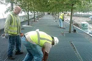 CORE gravel installation in FDR Four Freedoms Park, New York