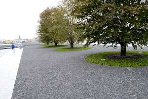 CORE Gravel installed at FDR Four Freedoms park
