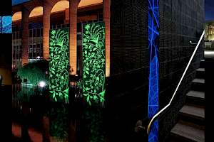Custom glow paint installations add a touch of mystery.