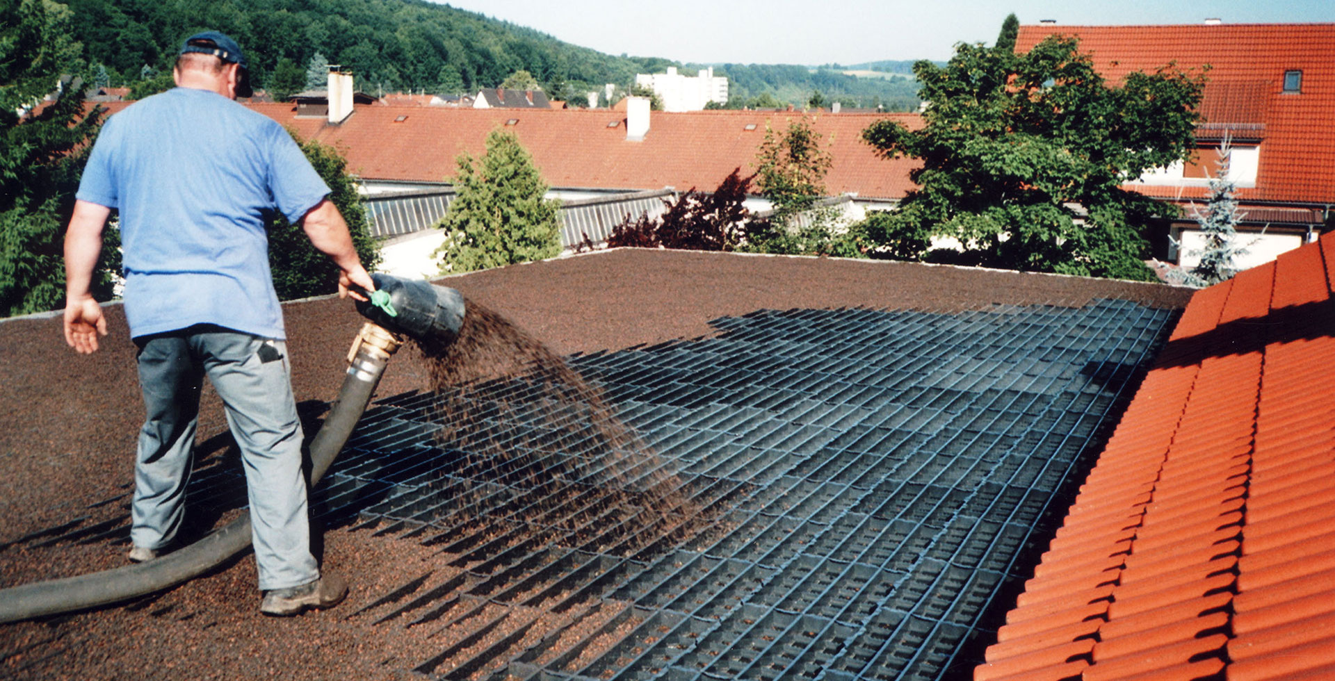 Green Roof Installation for flat and sloped roofs